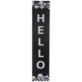 Hello Floral Wood Wall Decor