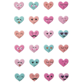 Valentine Heart Face Puffy Stickers