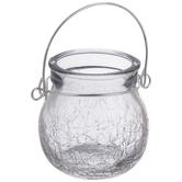 Lantern Crackled Glass Candle Holder