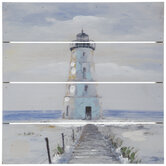 Painted Pastel Lighthouse Wood Wall Decor