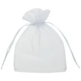 White Sheer Wedding Favor Bags