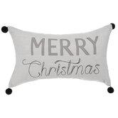 Merry Christmas Pom Pom Pillow