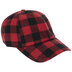 Red & Black Buffalo Check Baseball Cap