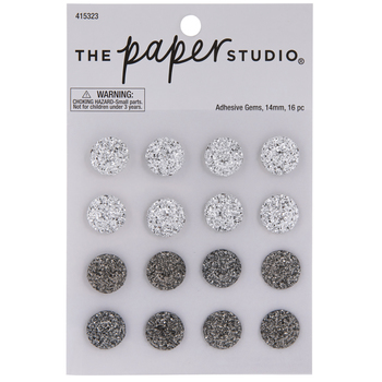 Clear & Gray Cluster Rhinestone Stickers
