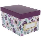 Purple Floral Storage Box