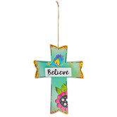 Believe Wood Wall Cross
