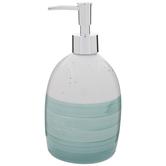 Aqua & White Ombre Soap Dispenser