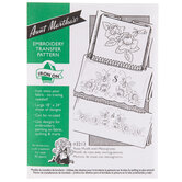 Rose Motifs With Monograms Embroidery Pattern