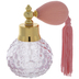 Pink Hobnail Glass Perfume Bottle With Atomizer