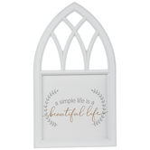 A Simple Life Cathedral Arch Wood Wall Decor
