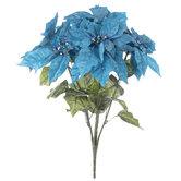 Glitter Poinsettia Bush
