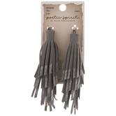 Gray Fringe Tassel Pendants