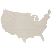 Flag United States Map Wood Wall Decor
