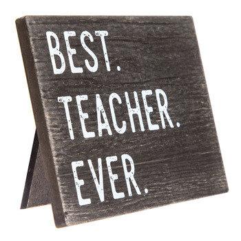 Best Teacher Ever Wood Wall Decor