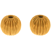Fluted Metal Beads - 8mm