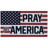 Pray For America Flag Car Magnet