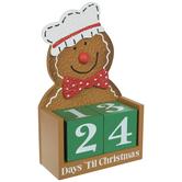 Gingerbread Man Countdown Calendar