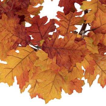 Orange & Red Oak Leaf Candle Ring