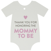 Pink Mommy To Be Creeper Favor Tags