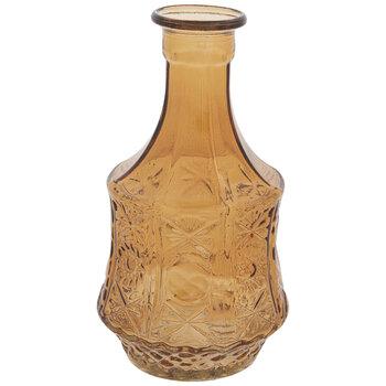 Embossed Floral Glass Vase