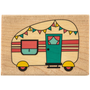 Camping Trailer Rubber Stamp