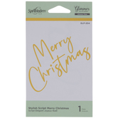 Merry Christmas Glimmer Hot Foil Plate