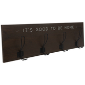 It's Good To Be Home Wood Wall Decor With Hooks