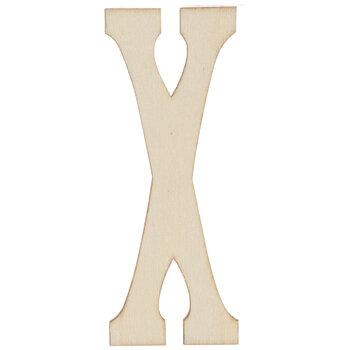"Vintage Sign Wood Letters X - 4"""