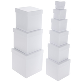 Kraft Nested Square Boxes