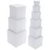 White Kraft Nested Square Boxes