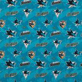 NHL San Jose Sharks Cotton Fabric