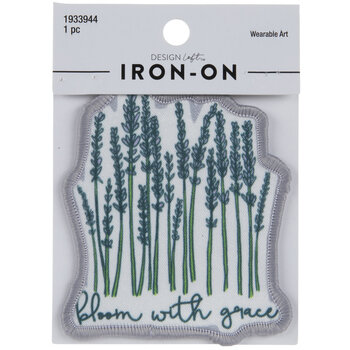Bloom With Grace Iron-On Applique