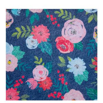 Navy Floral Felt Sheet