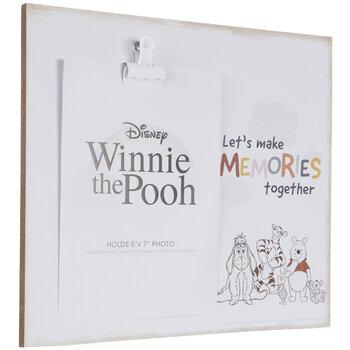 "Winnie The Pooh Wood Clip Frame - 5"" x 7"""