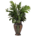 Areca Palm & Ruffle Fern In Metal Container