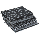 Black Basics Fat Quarters