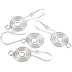 Swirl Ear Wires - 31mm