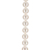 White Pearl Coated Shell Bead Strand - 10mm
