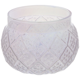 Iridescent Pink Diamond Glass Candle Holder