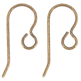 French Ear Wires - 20mm x 10mm