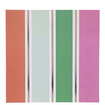 """Gold Foil Striped Scrapbook Paper - 12"""" x 12"""""""