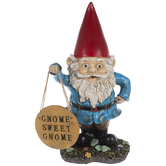 Gnome Holding Sign