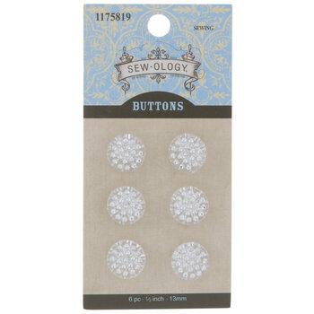 Round Rhinestone Shank Buttons - 13mm