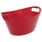 Red Oval Container With Handles