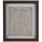 Baseball Diagram Framed Wall Decor