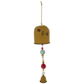 Yellow Bee Bell Wind Chime