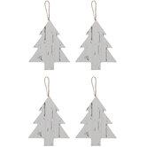 Whitewash Tree Ornaments