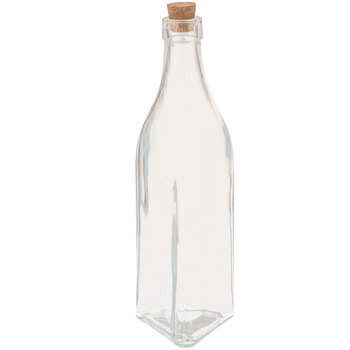 Triangle-Shaped Glass Bottle