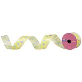 "Polka Dot Wired Edge Satin Ribbon - 1 1/2"""