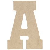 """Wood Letter A - 5"""""""